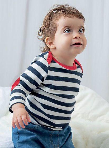 Pruhované tričko pre bábätko