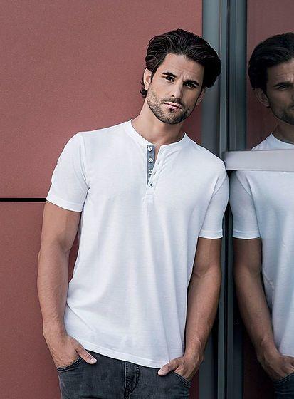 Pánské tričko Henley HD