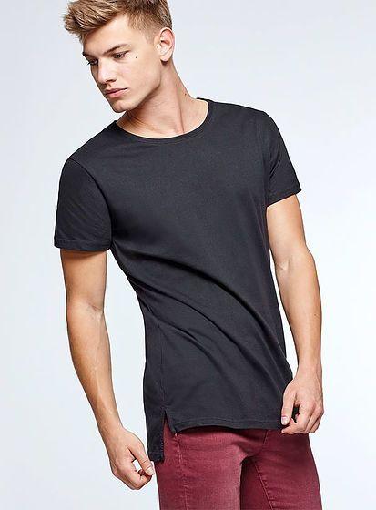 Pánské triko Collie s delší zadní stranou