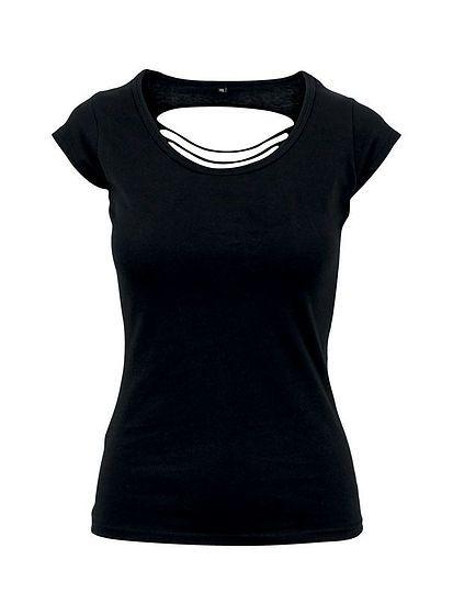 Dámské tričko s průstřihy