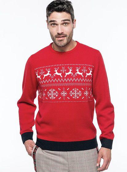 Unisex zimné sveter Reindeer