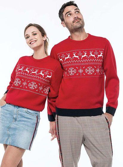 Unisex zimní svetr Reindeer