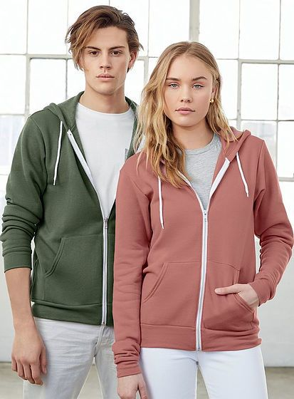 Unisex mikina Zip-up