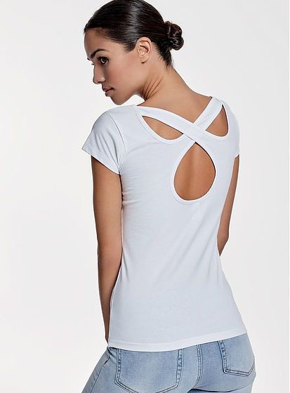 Dámske tričko s prekríženými chrbtom Agnese