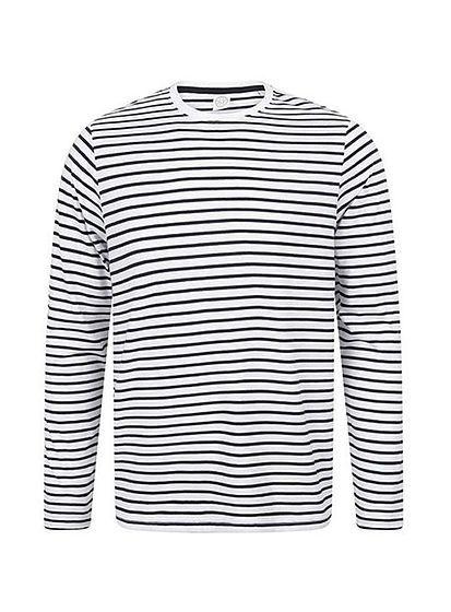 Pruhované tričko unisex s dlouhými rukávy