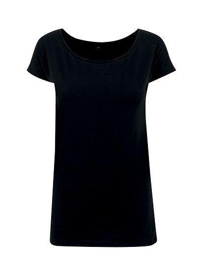Dámské prodloužené tričko s velkým výstřihem