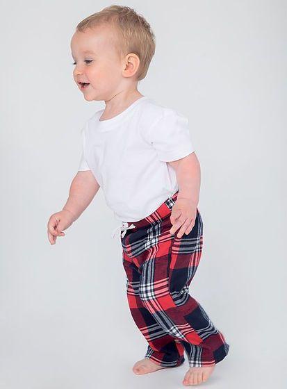 Nohavice pre bábätká Tartan