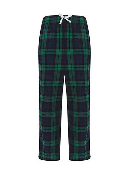 Detské nohavice na spanie Tartan