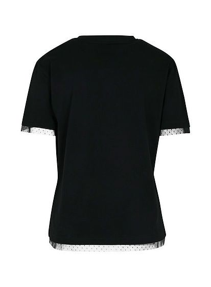 Dámské tričko s krajkovým lemem