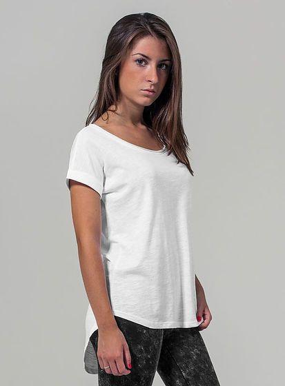Dámské tričko Slub s prodlouženým zadním dílem