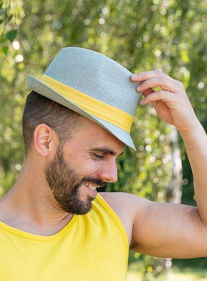 Farebný slamený klobúk unisex