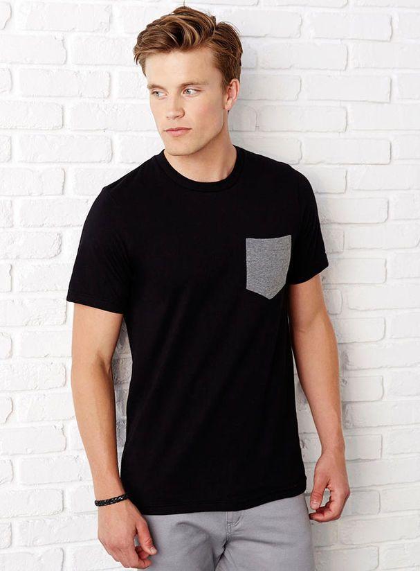 Tričko s kapsou - Triko s kapsičkou - basic pánské oblečení se ... 7bf0f0e28f