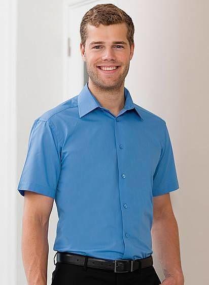 Popelínová košile s krátkým rukávem