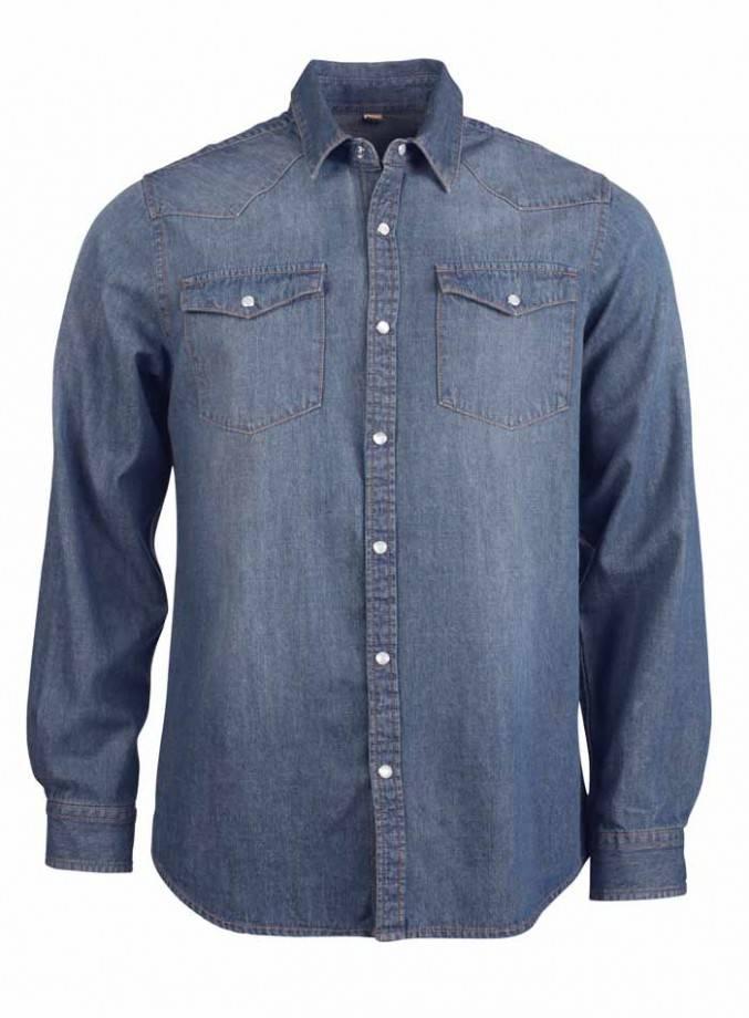 Pánská denim košile - Pánská džínová košile pro všechyn moderní muže ... d01167512e