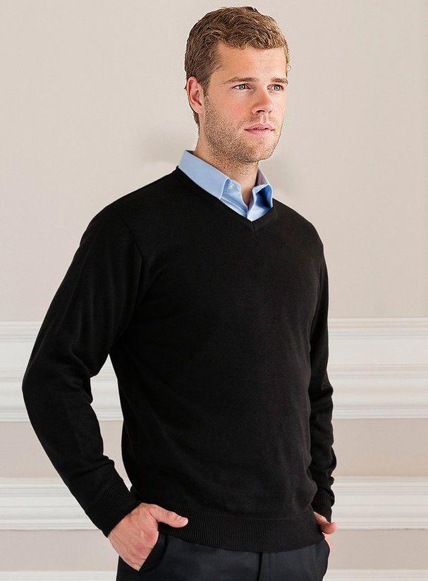 ba28f989d70 Pánský Pulovr V-neck - Pánský pulovr z nemačkavého a snadno ...