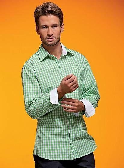 Pánska kockovaná košeľa