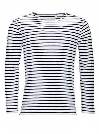 Pánské pruhované tričko s dlouhými rukávy