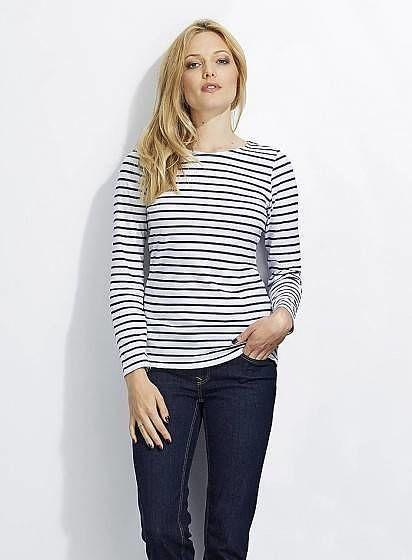 Dámské pruhované tričko s dlouhými rukávy