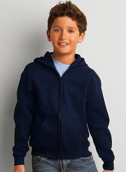 Dětská mikina s kapucí a zipem