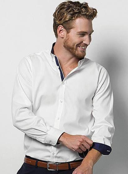 Pánská košile s dlouhými rukávy Contrast