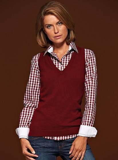 Kvalitný dámsky pulóver - vesta
