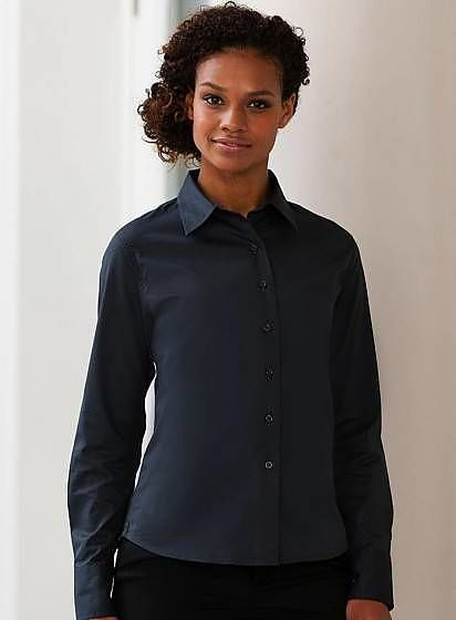 Dámská košile Twill s dlouhým rukávem